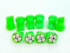 10 Green Pontiac *SUPER BRIGHT 12V LED 194 Wedge Instrument Panel Light Bulb NOS