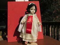 """Snow White Doll 16"""" Composition madame Alexander Original Disney Princess rare"""