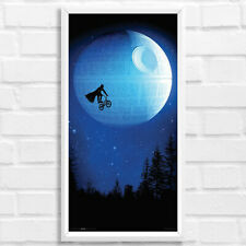 "Darth Vader Star Wars BMX Death Star Framed Art Print Poster Picture 24x12"""