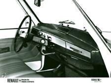 Photo de presse ancienne intérieur de voiture automobile Renault 6 1971