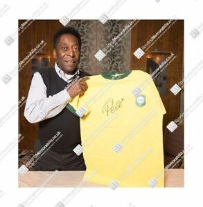 New Framed Brazil Edson Pelé Autographed Jersey