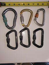 Lot of 6 Screwgate Locking Carabiner D-Ring Hook for Climbing Caving Omega Petz.