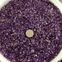 50g 3-10mm Natural Mini Amethyst Point Quartz Crystal Stone Rock Chips Healing