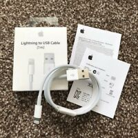 New Genuine Charging Cable original Charger Lead for Apple iPhone X 7 8 6 5s UK