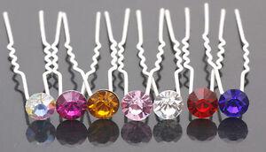 Crystal Rhinestone Diamante Hair Pins Wedding Bridal Prom Party Gifts