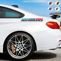 2 x For BMW PERFORMANCE M Sport VINYL STICKERS Side Back Stripes DECALS Graphics