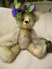 "10"" lavender tipped mohair bear by Annette Funicello"