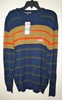 "ECKO UNLTD. Men's Knit Striped Crewneck Sweater ""DEEPEST BLUE"" Size XL NWT"