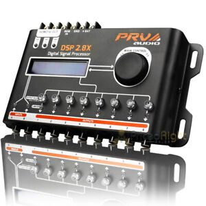 PRV Audio 8 Channel Digital Signal Processor Crossover and Equalizer DSP 2.8X