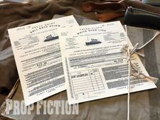 Titanic - Pair of 3rd Class / Steerage White Star Line Paper Movie Prop Tickets