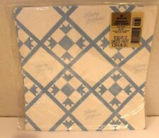 Vintage Hallmark Gift Wrap Wrapping Paper Happy Birthday Quilt raised EMBOSSED