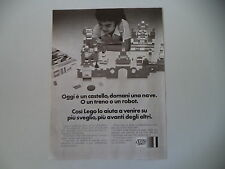 advertising Pubblicità 1972 LEGO SYSTEM