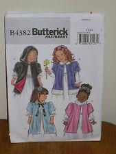 BUTTERICK PATTERN 4382 Sz 2-3-4-5 GIRLS CLOAK Loose-fitting lined Hood Very Easy