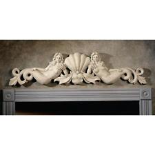 18th Century European Replica Dual Mermaids Home Garden Wall Pediment