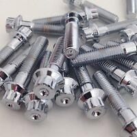 160x Chrome M7 x 32mm Split Rim Bolts for bbs rs, oz, Schmidt