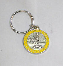St Christopher Rides Suzuki Motorcycle Key Chain Medal