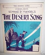 THE DESERT SONG from the Warner Bros. MovieHammerstein/Romberg,CAMEL/MINARET