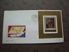 ROUMANIE enveloppe 11/5/73 -Timbre Yvert et Tellier bloc n°106 (cy2)