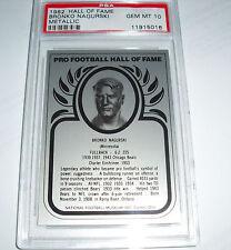 1982 Hall of Fame Metallic Bronko Nagurski PSA GEM MINT 10 POP 2 Chicago Bears