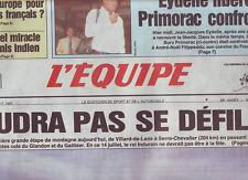 journal  l'equipe 14/07/93 CYCLISME TOUR DE FRANCE 93 LE PELETON ET LA MONTAGNE