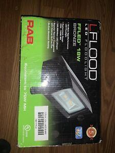 RAB Lflood FFLED Floodlight Bronze Flood Light Outdoor LED 18W Aluminum
