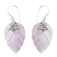 925 Sterling Silver Mother of Pearl Drop Dangle Earrings Women Jewelry For Gift