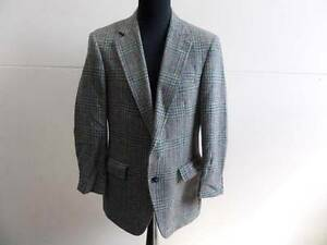 "Vintage Harris Tweed Blazer Jacket Botany 500 Medium 40"" Green Grade C W362"