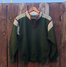 Vintage Nordic Nomad Ski Vermont Heavy Wool Winter Fair Isle Sweater