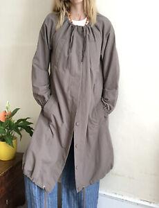 Brand New COS By Lightweight Summer Parka Coat 34 Uk 8 Mushroom Grey Belt String