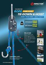【Master】Large Size Rope Cam Cleat Tie Down & Hoist