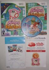 Kirby's Epic Yarn (Nintendo Wii, 2010) COMPLETE w/ Manual