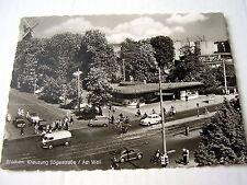 BREMEN~1954~KREUZUNG SÖGESTRASSE/AM WALL~ANIMATED~OLD CARS~SPECIAL POSTAL STAMP