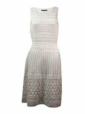 [2131]Ralph Lauren Womens Metallic Sleeveless Party Dress Silver Medium $174