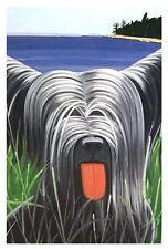 "Alex Katz 'Sunny #4', 1971 Postcard Dog Painting, Mam, 6"" x 4"" Skye Terrier New!"