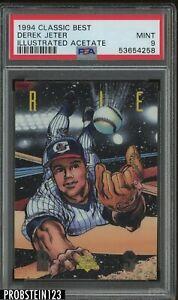 1994 Classic Best Illustrated Acetate Derek Jeter Yankees HOF PSA 9 MINT
