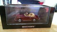 Minichamps 1:43 1956 Porsche 356A Cabriolet Polyantha Rot(Red)