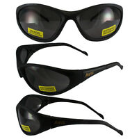 FLEXER SMOKE SAFETY GLASSES Polycarbonate Lens UV400 MOTORCYCLE SUNGLASSES