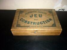 ANCIEN JEUX DE CONSTRUCTION Architecture Française 1920/30 jeu en bois