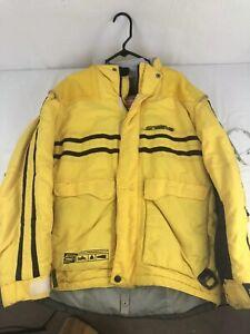 Arctiva Mens Snowmobile Jacket Size Small Yellow