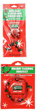 Flashing Christmas Light Bulb Holiday Jewelry - Bracelet and Earrings Set