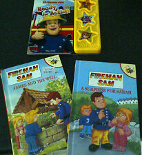 3 Fireman Sam Books Ready For Action, Suprise for Sarah, James and The well