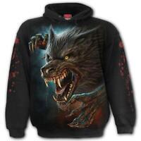 Spiral Direct WILD MOON Hoodie Werewolf/Rips/Horror/Biker/Rock/Hoody/Wolfs/Metal