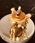 Vintage Gold Table Top Lighter with 3 Angels, cherubs