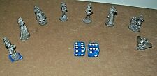 2001 Monopoly Disney Edition 8 Replacement Pewter Playing Pieces & Blue Dice New