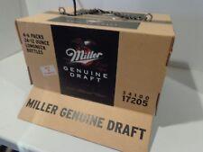 MILLER BEER DRAFT CASE HANGING FLORESCENT POOL TABLE LIGHT