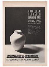Pubblicità epoca RICHARD GINORI PORCELLANE old advert werbung publicitè reklame