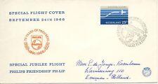 Speciale vlucht Philips Friendship (24-09-1966) - Met net geschreven adres