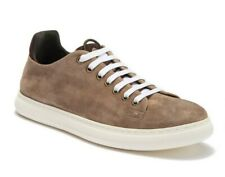 Donald J Pliner Pierce Men's Washed Suede Low Top Fashion Sneakers in Tan Size 8