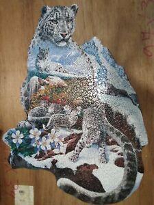"2001 BITS & PIECES SHAPED PUZZLE ""MOUNTAIN MAJESTIC"" W/ SHAPED PIECES 750 PIECES"