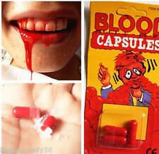 3Pcs Fake Blood Pill Horror Funny Halloween Prop Gag Joke Party Capsules Pill